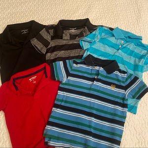 Set of 5 Boys short sleeve Polos Size 4T ⛳️